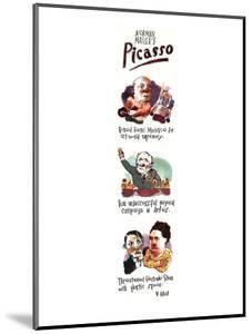 Norman Mailer's Picasso - New Yorker Cartoon by Barry Blitt