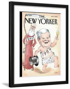 The New Yorker Cover - January 2, 2012 by Barry Blitt