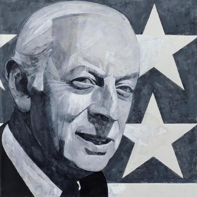 Portrait of Alistair Cooke, illustration for 'The Listener', 1970s