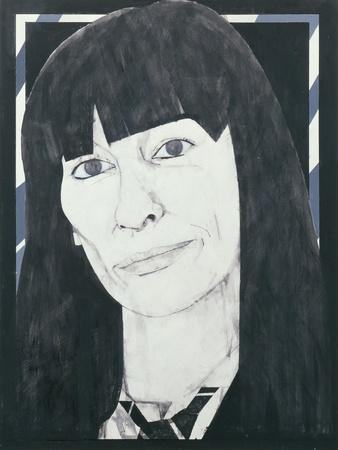Portrait of Beryl Bainbridge, illustration for 'Cosmopolitan', 1970s