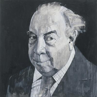 Portrait of J.B. Priestley, illustration for 'The Listener', 1970s