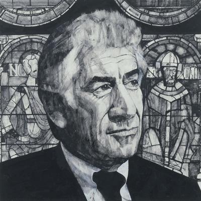 Portrait of Leonard Bernstein, illustration for 'The Sunday Times', 1970s