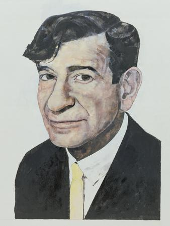 Portrait of Walter Matthau, illustration for 'The Daily Mirror Colour Supplement', 1964