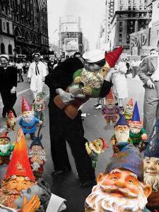 Garden Gnomes - VJ Day by Barry Kite