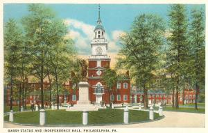 Barry Statue, Independence Hall, Philadelphia, Pennsylvania