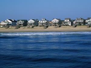 Beachfront Homes, Atlantic, Nags Head by Barry Winiker