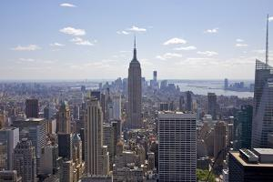 Landmark Empire State Building and Tall Buildings. by Barry Winiker