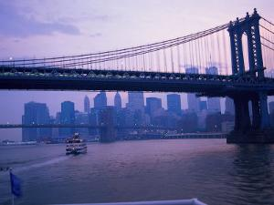 Manhattan Bridge, NYC by Barry Winiker