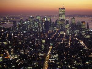 New York City Skyline at Night, NY by Barry Winiker