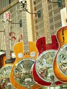Showcase Displaying Dobro Resonating Guitars by Barry Winiker