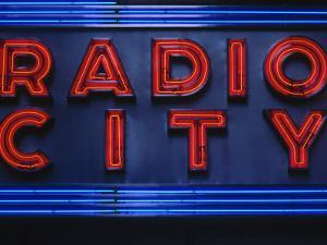 Sign for Radio City Music Hall, NYC by Barry Winiker