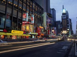 Times Square, Looking North, Dusk, NYC by Barry Winiker