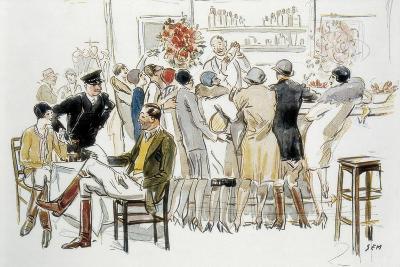 Bars and Cabarets of Paris-Georges Goursat Sem-Art Print