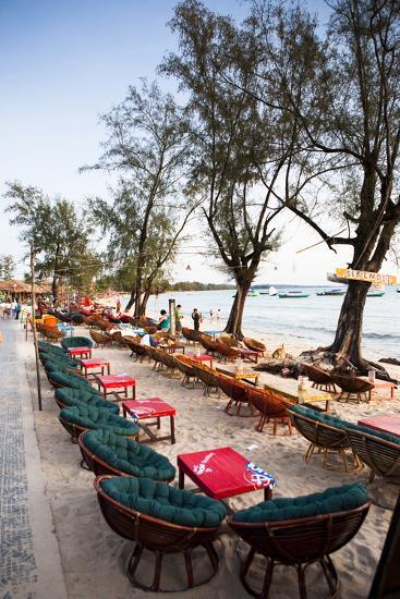 Bars and Restaurants Along Serendipity Beach, Sihanoukville, Cambodia-Micah Wright-Photographic Print