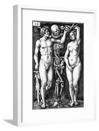 Adam and Eve, Engraved by Hans Sebald Beham, 1543