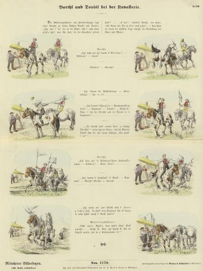 Barthl and Donisl in the Cavalry--Giclee Print