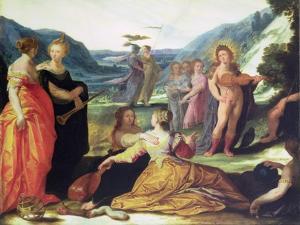 Apollo, Pallas and the Muses, 16th Century by Bartholomaeus Spranger