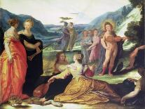 Minerva Victorious over Ignorance-Bartholomaeus Spranger-Art Print