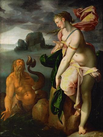 Glaucus and Scylla,lesser sea-god and former fisherman, falls in love with Scylla.