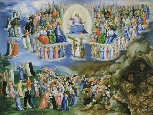 Last Judgement, Copy of Version by Fra Angelico (1387-1455) by Bartholomaeus Spranger