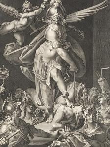 Les arts et les sciences triomphant de l'ignorance et de la barbarie by Bartholomaeus Spranger