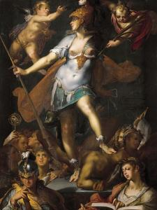 Minerva Victorious over Ignorance by Bartholomaeus Spranger