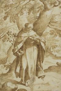 Saint Dominic Reading, C.1575 by Bartholomaeus Spranger