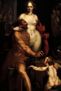 Venus in the Forge of Vulcan, Jupiter and Antiope by Bartholomaeus Spranger