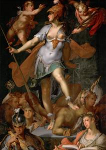 Minerva Victorious over Ignorance, Ca 1591 by Bartholomeus Spranger