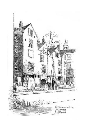 Bartholomew Close, Smithfield, London, 1912-Frederick Adcock-Giclee Print