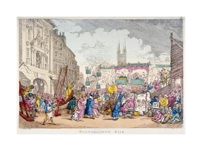 Bartholomew Fair, West Smithfield, City of London, 1813-Thomas Rowlandson-Giclee Print