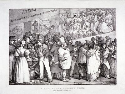 Bartholomew Fair, West Smithfield, London, C1830-J Graf-Giclee Print