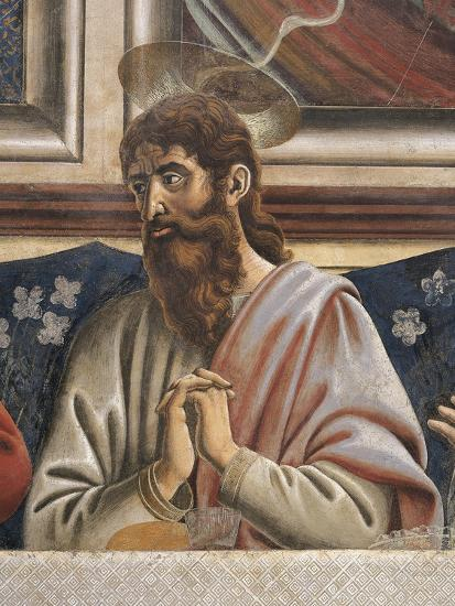 Bartholomew with Clasped Hands, Detail from the Last Supper, 1450-Andrea Del Castagno-Giclee Print