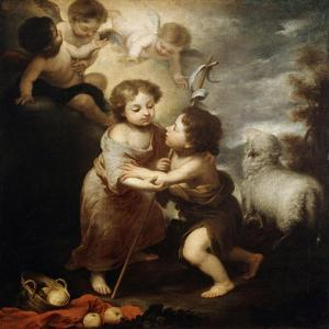 Christ and John the Baptist as Children, Between 1655 and 1660 by Bartolom? Esteban Murillo