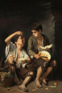 Beggar Boys Eating Grapes and Melons, 1645/46 by Bartolomé Estéban Murillo