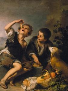 Children Eating a Pie, about 1670/75 by Bartolomé Estéban Murillo