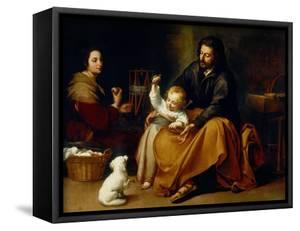 Holy Family with Baby Sparrow by Bartolome Esteban Murillo