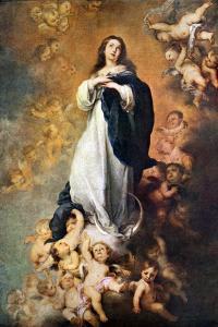 Immaculate Conception of the Escorial, C1678 by Bartolomé Esteban Murillo