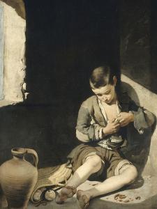 Le Jeune mendiant by Bartolome Esteban Murillo