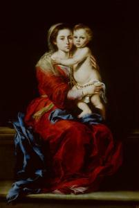Madonna and Child or Virgin of the Rosary by Bartolome Esteban Murillo