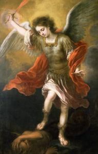 Saint Michael Banishes the Devil to the Abyss, 1665/68 by Bartolome Esteban Murillo
