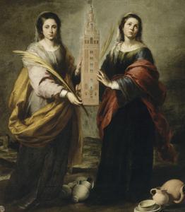 Sainte Juste et sainte Rufine by Bartolome Esteban Murillo