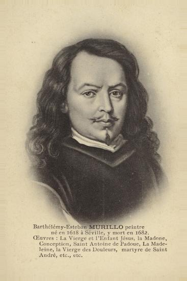 Bartolome Esteban Murillo, Spanish Painter--Giclee Print