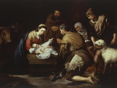 The Adoration of the Shepherds, 1645-50, 17X228Cm