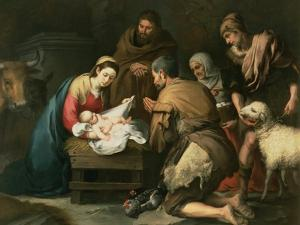 The Adoration of the Shepherds, c.1650 by Bartolome Esteban Murillo