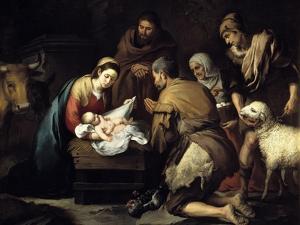 The Adoration of the Shepherds, Ca. 1657 by Bartolome Esteban Murillo