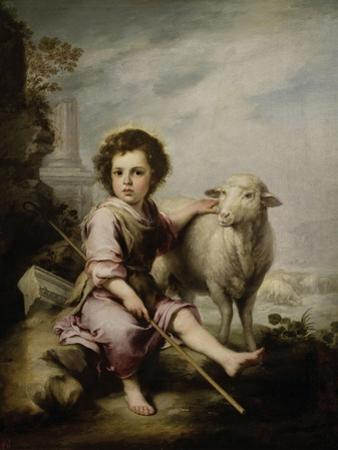 The Good Shepherd, Ca. 1660, Spanish School by Bartolome Esteban Murillo
