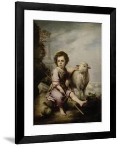 The Good Shepherd, Ca. 1660, Spanish School by Bartolome Esteban Murillo