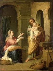 The Holy Family, circa 1660-70 by Bartolome Esteban Murillo