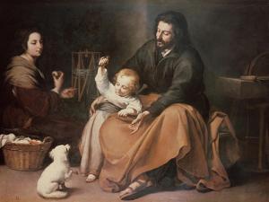 The Holy Family with a Bird by Bartolome Esteban Murillo